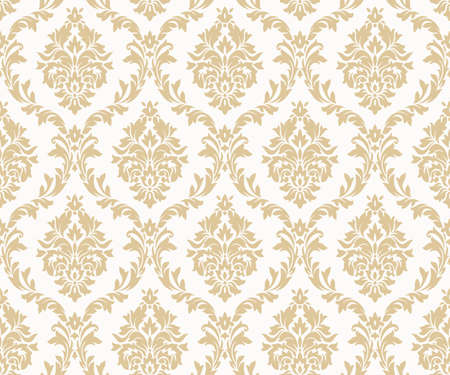 Ilustración de Vector seamless damask gold patterns. Rich ornament, old Damascus style gold pattern for wallpapers, textile, packaging, design of luxury products - Vector Illustration - Imagen libre de derechos