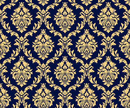 Photo pour Vector seamless damask gold patterns. Rich ornament, old Damascus style gold pattern for wallpapers, textile, packaging, design of luxury products - Vector Illustration - image libre de droit