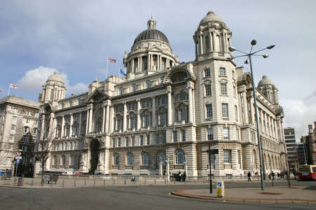 One of the Three Graces on Liverpool Waterfront