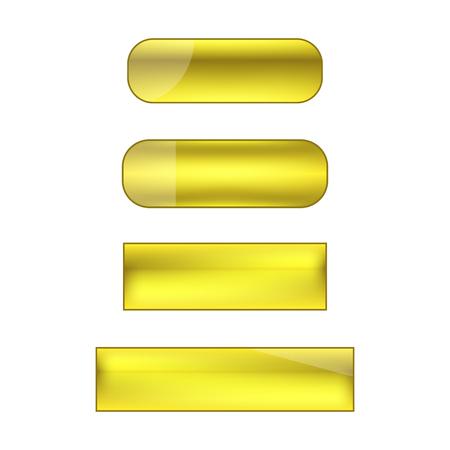 vector web buttons set - yellow