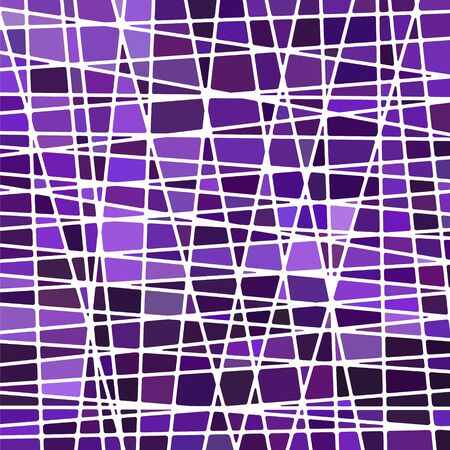 Illustration pour abstract vector stained-glass mosaic background - purple and violet - image libre de droit