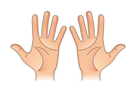 Illustration pour Human body parts. Male and female hands. Left and right - image libre de droit