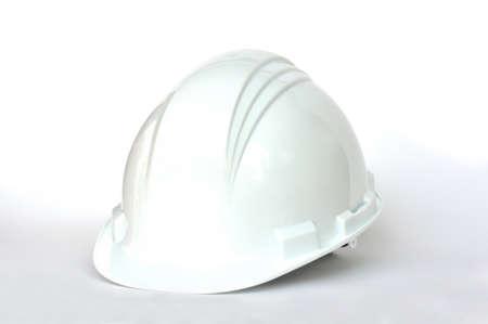 Photo for White hard hat on white background - Royalty Free Image