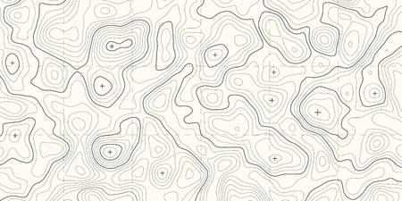 Illustration pour Geographic topographic map grid. Topography map background. Vector banner. - image libre de droit