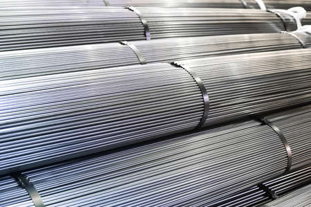 Stacked aluminum metal rods