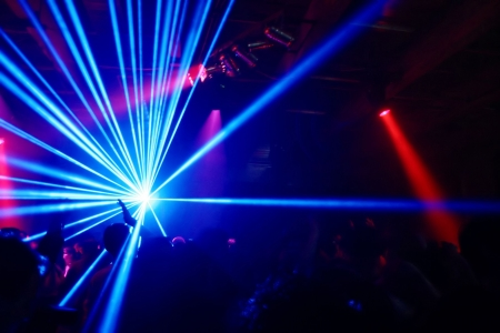 Party at Disco and laser show