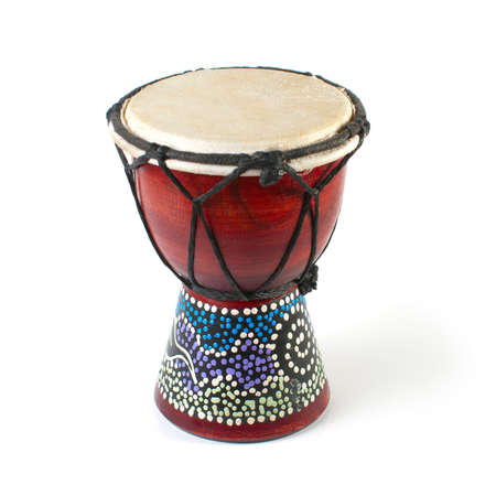 African Djembe Drum on a white background