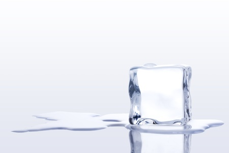 ice cubes on a White background