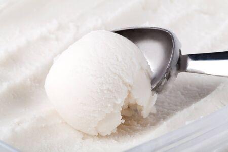 ice cream scoop isolated on white background