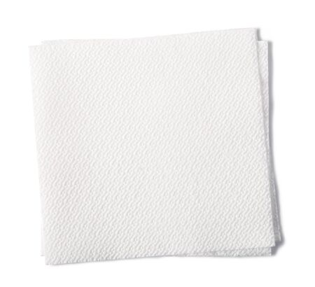 paper napkin isolated on white background