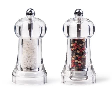 Foto für salt and pepper grinders isolated on white - Lizenzfreies Bild