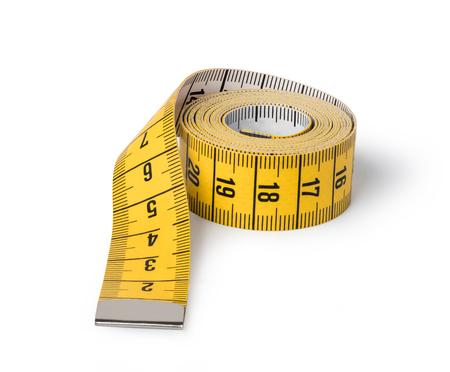 Photo pour Tape measure isolated on white background - image libre de droit