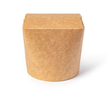 Foto für brown unlabeled paper food box isolated on white background - Lizenzfreies Bild