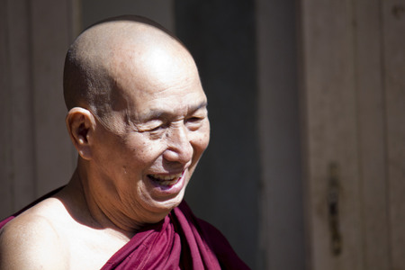 Old Smiling Monk  Monks, collectively known as the Sangha, are venerated members of Burmese society
