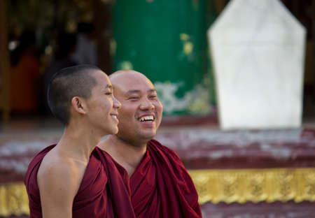 Smiling Monks  Monk,  collectively known as the Sangha, are venerated members of Burmese society