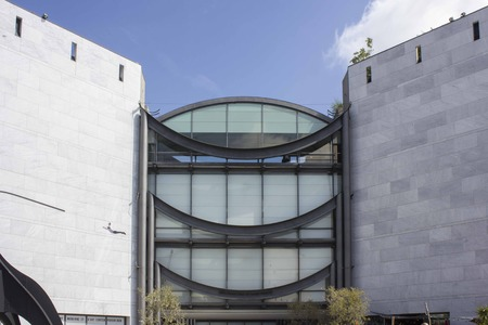 NICE, FRANCE - APRIL 23 2017: Facade of the national museum of modern and contemporary art in Nice, France
