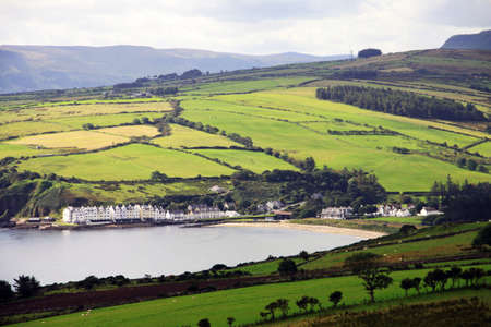 Irish landscape of Antrim Co