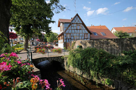 old style country village in Alsace, France