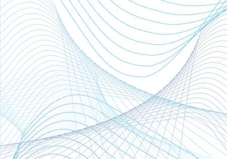 Illustration pour abstract blue curves background - image libre de droit