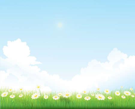 Illustration for spring sky vector background - Royalty Free Image