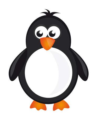 black,white and orange penguin isolate over white background. vector