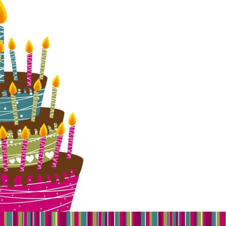 cake card over white background. vector illustration
