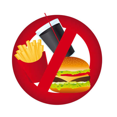 no food sign isolated over white background. vector illustration