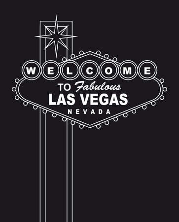 welcome  to fabulous las vegas nevada sign. vector illlustration