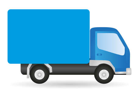 Illustration pour Vector illustration truck, isolated on white background - image libre de droit