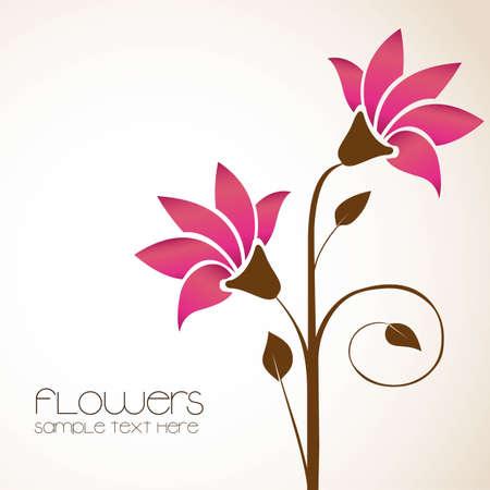Illustration pour simple background with delicate flowers,   illustration - image libre de droit