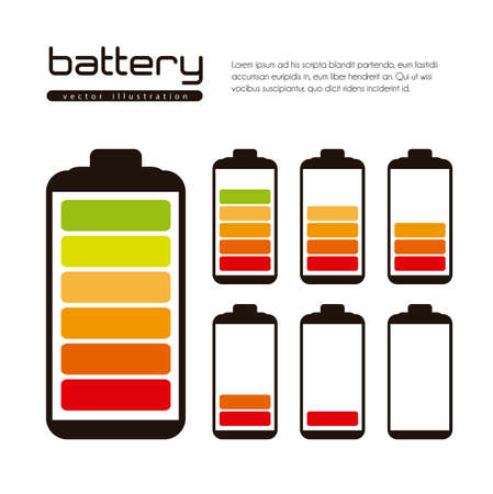 Battery load illustration isolated on white background