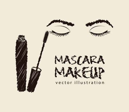 mascara illustration isolated on white background