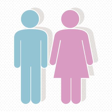 illustration of lady and gentleman, vector illustration