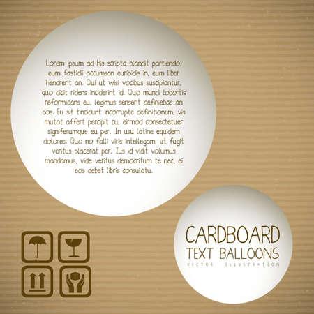 Illustration pour Illustration of textured cardboard, corrugated cardboard, vector illustration - image libre de droit