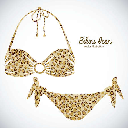 Illustration of bikini icon. Swimsuit two pieces illustration