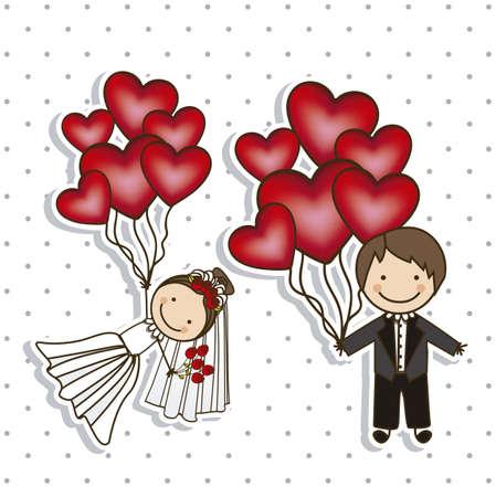 Foto de Illustration of Wedding Icons and Concepts Wedding, vector illustration - Imagen libre de derechos