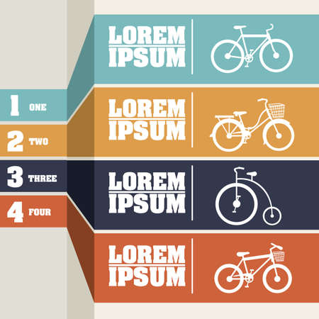Bicycle infographics  over gray background illustration