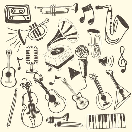 music icons over pink background vector illustration