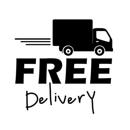 Illustration pour free delivery label over white background vector illustration  - image libre de droit