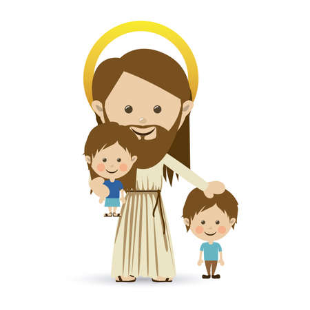 jesuschrist design over white background vector illustration