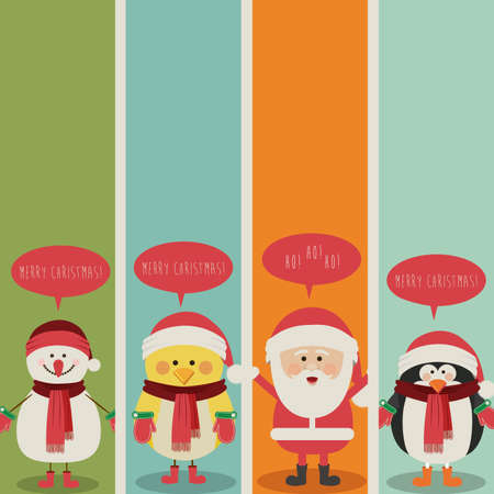 christmas design over colorful  background vector illustration