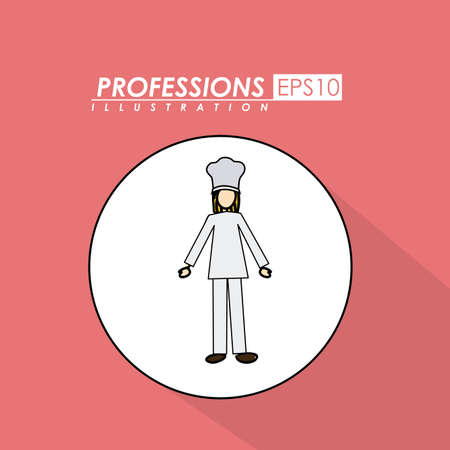 Professions, desing over, pink background,