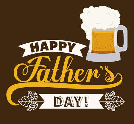 Illustration pour fathers day design over brown background, vector illustration - image libre de droit