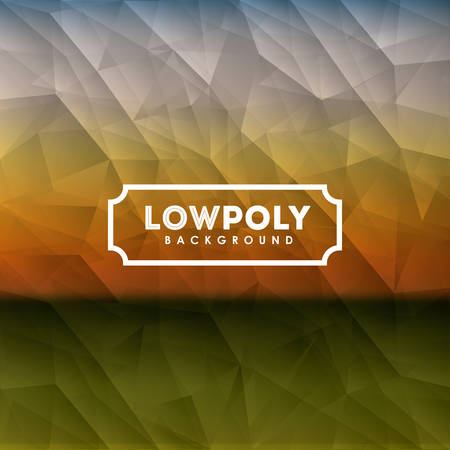 Lowpoly design over colored crumpled  background, vector illustrationの素材 [FY31041314789]