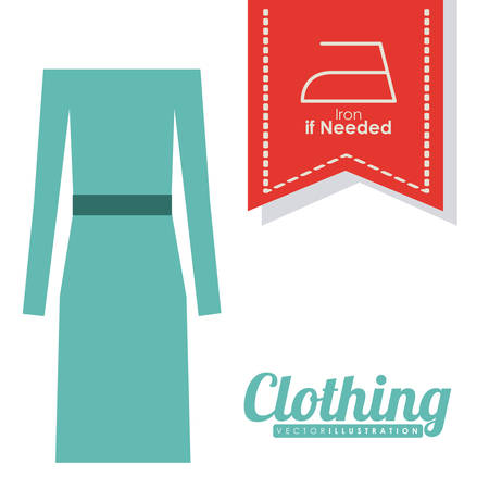 Clothing  digital design, vector illustration