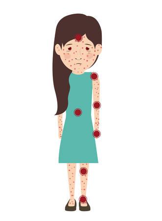 avatar person sick isolated vector illustration design