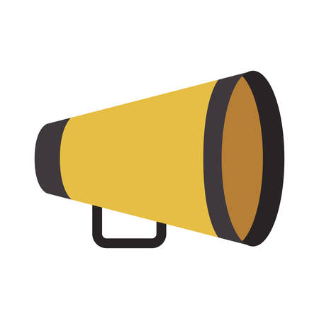 yellow director megaphone icon over white background. cinema design. vector illustration