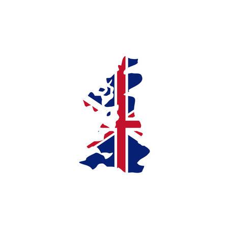 United kingdom map icon. London uk landmark tourism and ...