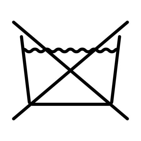 do not wash over white background.washing symbols design. illustration