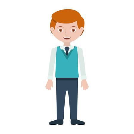 Illustration pour redhead man with formal suit and tie vector illustration - image libre de droit